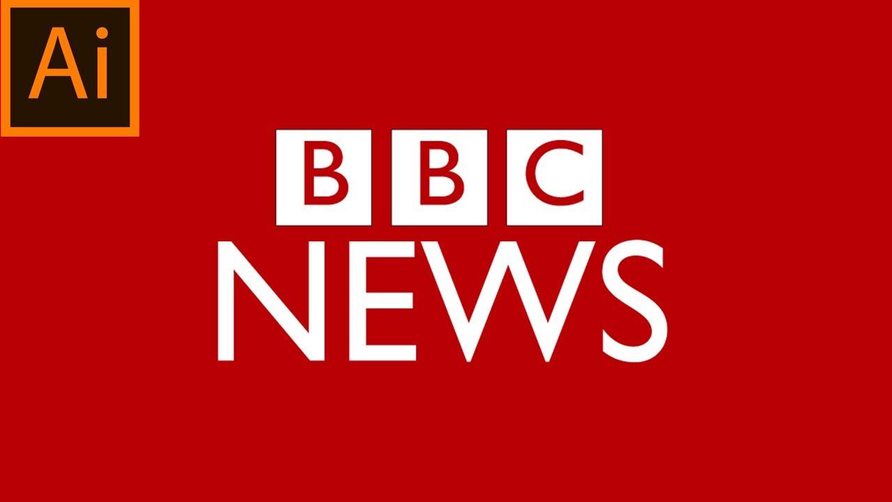 BBC news logo   adobe illustrator   easy for beginners