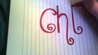 How to draw your name in fancy letters....