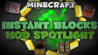 """1.7.10 Minecraft Mod Spotlight: """"Instant Blocks Mod"""""""