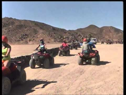 Sahara Desert, Egypt riding on quad bikes trip to the village to baboons Part 3