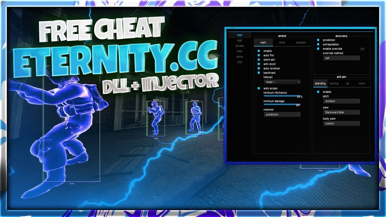 Download cheat for CSGO Eternity cc free hack + cfg Aimbot, Wallhack