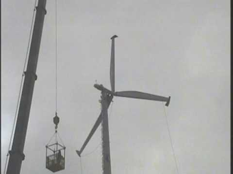Installation of a 120 foot Wind Turbine at Owens Community College