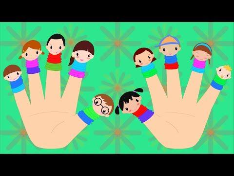 Ten Little Fingers Nursery Rhyme with lyrics