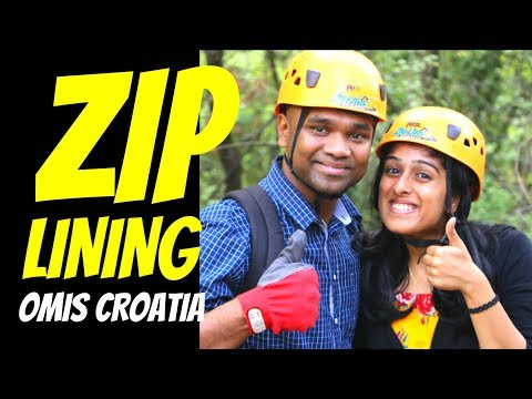 ZIPLINING in Omis Croatia I Day Trip from Split I Birthday Adventure