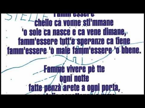 Nino D'Angelo - Famme Vivere Per Te (con testo)