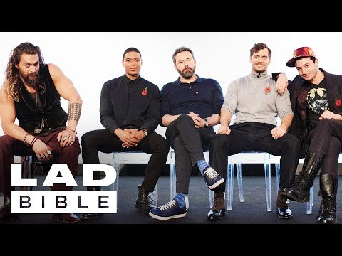 Justice Leagues Jason Momoa, Ben Affleck, Henry Cavill, Ezra Miller and Ray Fisher Jam Together
