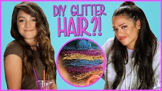 DIY Glitter Hair?! | Niki And Gabi DIY or Di-Don't