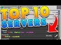 TOP 10 BEST SERVERS for Minecraft! (Pocket Edition, Xbox, Windows 10)
