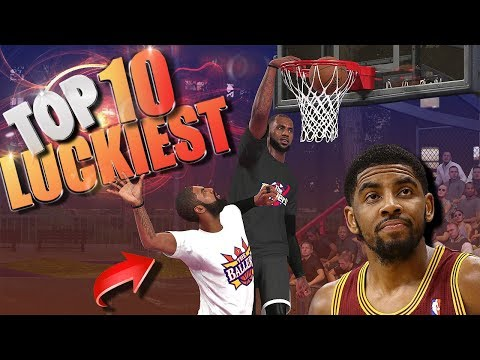 TOP 10 LUCKIEST PLAYS - NBA 2K18 Putbacks, Trick Plays & More