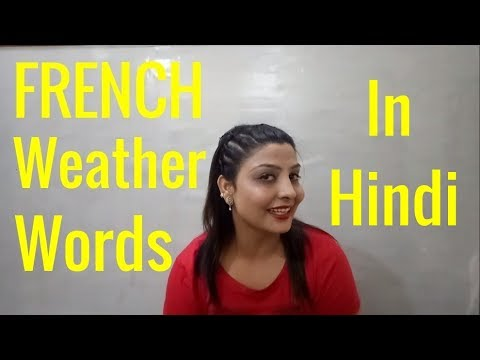 French Weather vocabulary in Hindi. Nova French Campus, Amritsar (Learn French through Hindi)