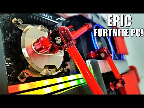 Fortnite PC - THE ULTIMATE Custom Water Cooled Gaming PC Build Time Lapse - DIY Tactical Shotgun - 동영상