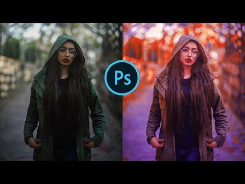 Orange And Purple Moody Colour Correction In Photoshop || Photoshop Tutorial - Bittu Editx thumbnail