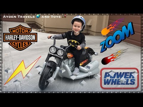 POWER WHEELS Harley Davidson MOTORCYCLE | Toddler - Young Kids Ride-on | Unboxing Building Riding