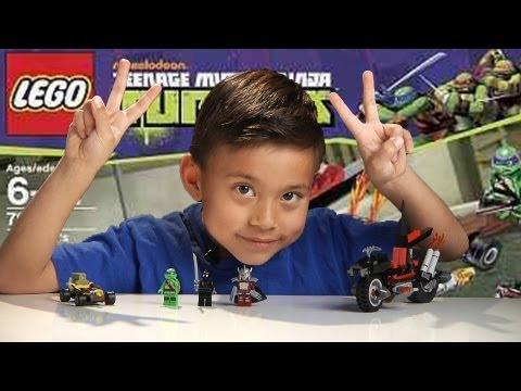 SHREDDER'S DRAGON BIKE - LEGO Teenage Mutant Ninja Turtles Set 79101 - Time-lapse Build & Review