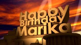 Happy Birthday Marika