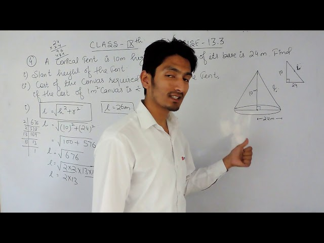 Exercise 13.3  Question -4   NCERT/CBSE Solutions for class 9th maths
