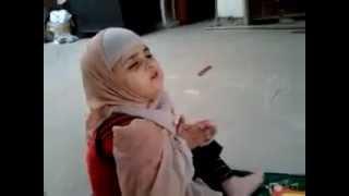 A Cute Pakistani Baby Praying