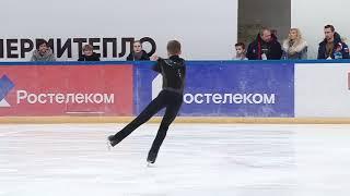 Первенство России среди юниоров 2019 Юнoши Короткая программа 4# Андрей КУТОВОЙ  МОС