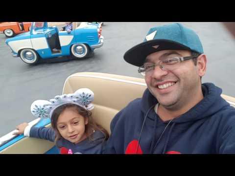 #riyas At Disney California adventure park with dancing cars