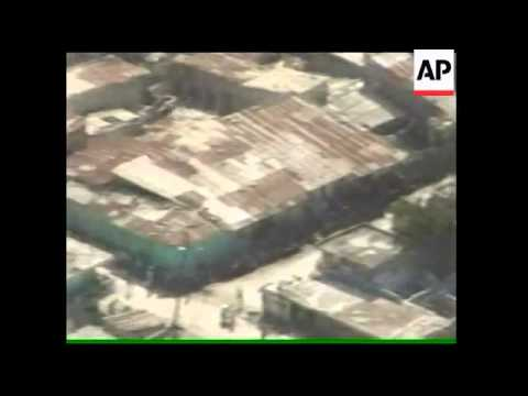 AP aerials of capital devastated by massive quake