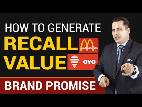 How To Generate Recall Value | Brand Promise | Dr Vivek Bind