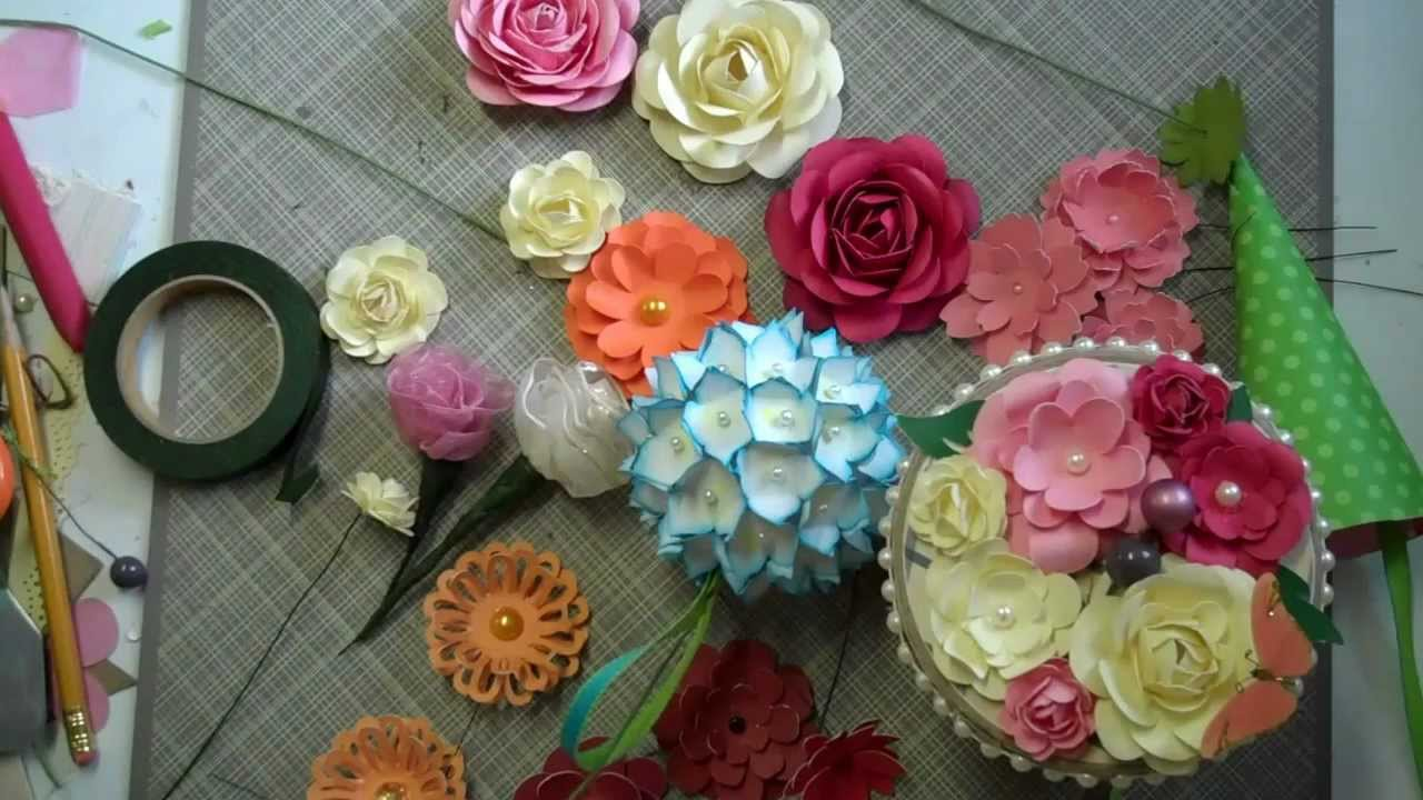 Paper flower bouquet tutorial mothers day bouquet paper flower tutorial youtube izmirmasajfo