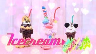 Mash Ups: Doll Ice Cream Crafts - Sundae | Monster Milkshake | FroYo | Tub of Ice Cream & more