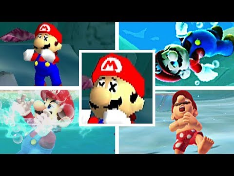 Evolution Of Mario Drowning In 3D Mario Games (1996-2017)
