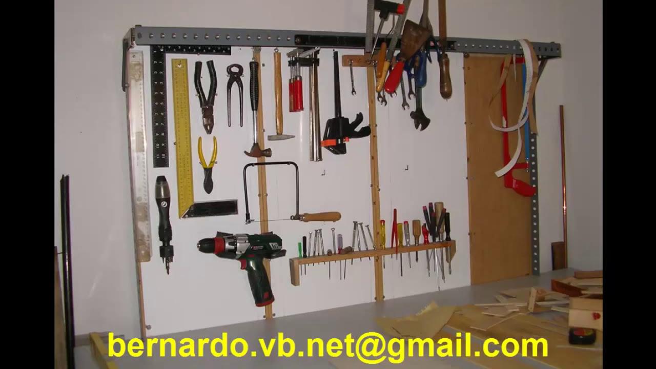Como hacer un banco de trabajo con perfiles de estanteria for Como hacer un bando para cortinas