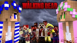 ZOMBIES EAT THE TOYSTORE DOLLS | THE WALKING DEAD w/Little Carly and Little Kelly (Minecraft).