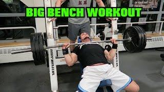 Big Bench Workout | 395 lb (180 kg) Attempt
