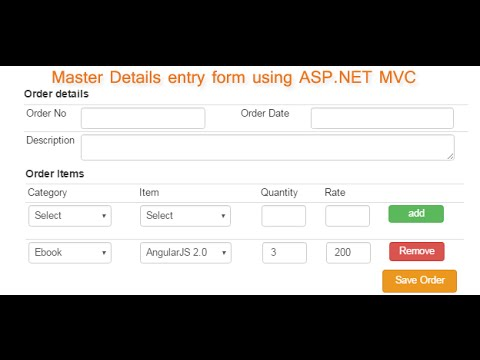 Advance master details entry form in asp net MVC | DotNet - awesome