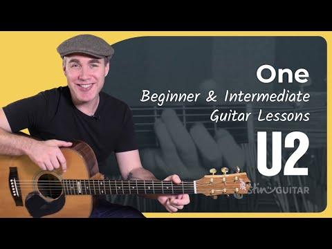 One - U2 - Beginner & Intermediate Song Guitar Lesson Tutorial (BS-421)