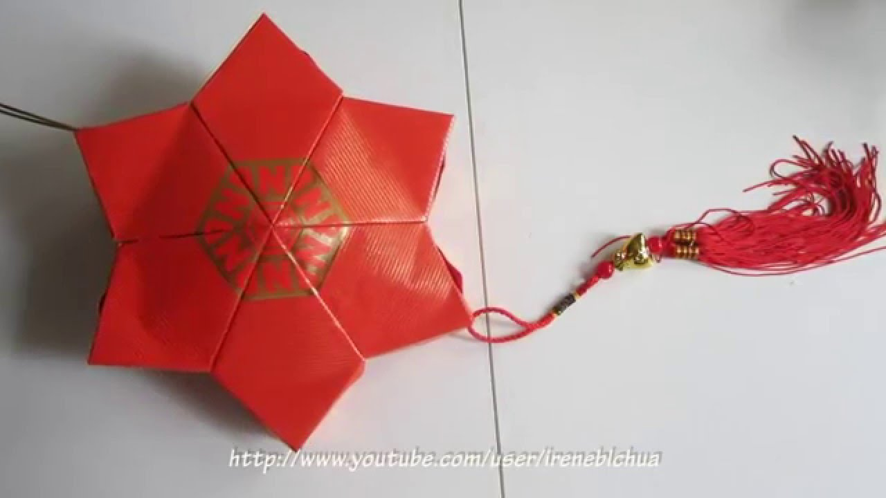 Lunar new year crafts - Cny Tutorial No 32 Red Packet Hongbao Star Lantern Youtube