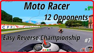 Moto Racer (1997) ✓ Reverse Tracks ✓ Easy Difficulty ✓  12 opponents