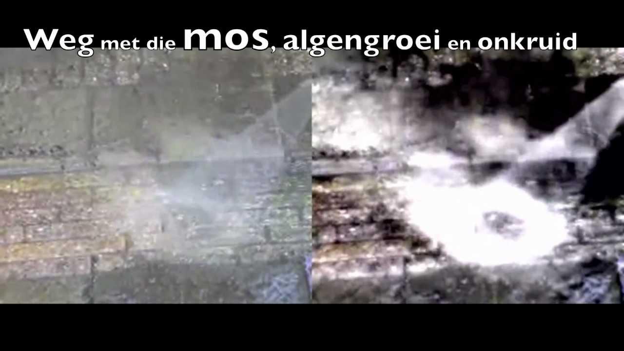 Tegels Tuin Schoonmaken : Hogedrukreiniger bestrating schoonmaken in de tuin youtube
