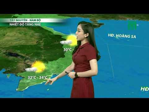 Thời tiết 6h 23/07/2018: Hà Nội, Hải Dương, Hưng Yên trời có nắng sớm nhiệt độ 32 đến 34 độ   VTC14