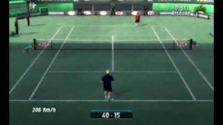 Top Spin 2 (PC) - Federer x Hewitt (First set) Game Play