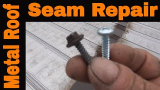 Metal Roof Repair - a must see for all metal roof owners -Turbo Poly Seal