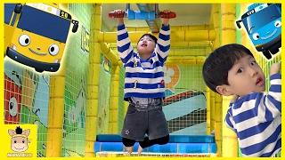 Indoor Playground for Kids Happy Tayo bus Surprise Toy Famliy Fun Slide | MariAndKids Toys