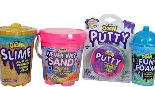 Zuru Oosh Slime, Putty, Fun Foam and Never Wet Sand Unboxing Toy Review