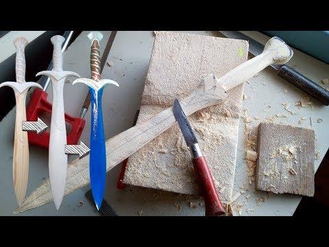 Carving Sting - Hobbit Sword WOOD - LOTR
