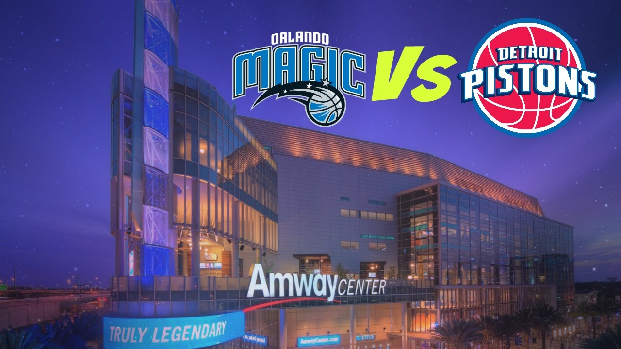 Amway Center Orlando Magic Vs Detroit Pistons NBA 2015-16 Season