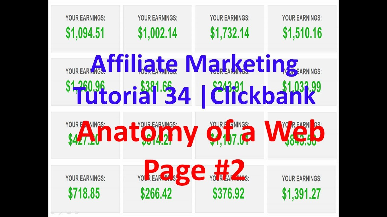Affiliate Marketing Tutorial 34 Clickbank Anatomy Of A Web Page