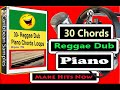 30-Popular Piano Chords us in Reggae and dub music.