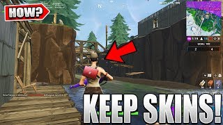 Here's How You Can KEEP Your SKINS In Tilted Town In Fortnite..