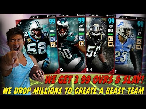 WE GET MORE 99 OVR POSITIONAL HEROES & SLAY! WE DROP 3 MILL COINS! MADDEN 17 ULTIMATE TEAM