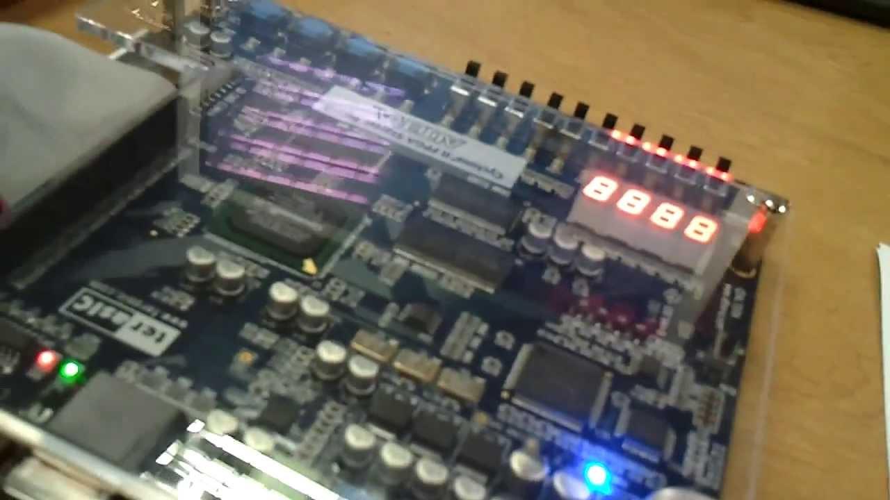 Thiết kế Đèn Giao Thông bằng FPGA Cyclone II Altera DE1 Board. Thiết Kế Vi  Mạch Việt Nam