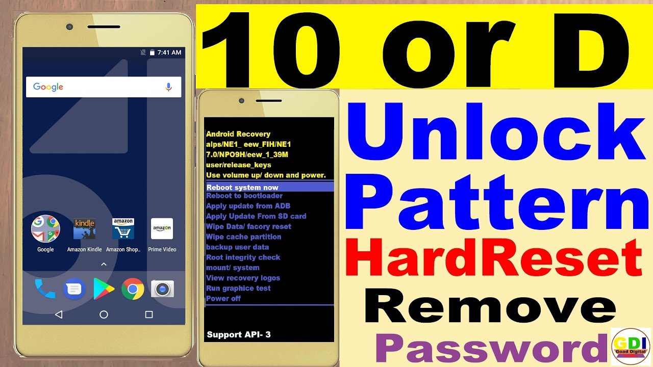 Unlock Pattern 10 or | Hardreset 10 or | Remove Pattern 10 or D, 10 or G,  10 or E | Forgot Password
