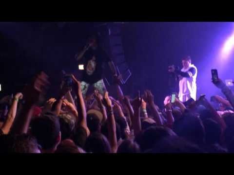 """Jazz Cartier stands on crowd & performs """"Dead Or Alive"""""""